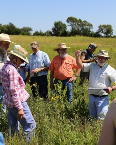 Field trip group led by Bruce Schuette