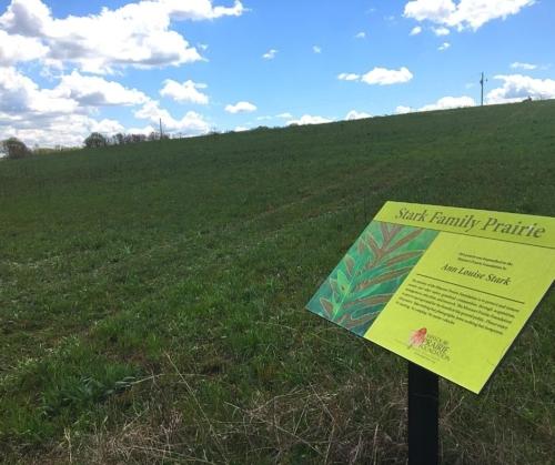 Sign at Stark Family Prairie