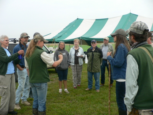 Grassland birds education with MRBO at Gayfeather