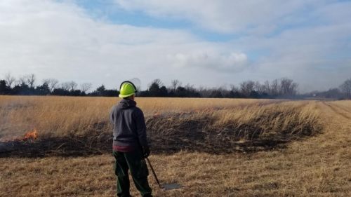 NW Lawrence County Prairie burn 2020 Jerod